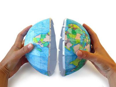 3D-Globus aus Papier basteln