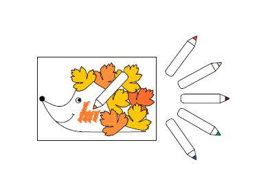 Blätter-Tiere kleben für Kinder