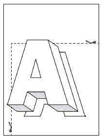 Schwebende Buchstaben ausmalen