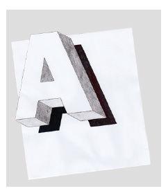 Schwebender Buchstaben A -Schritt fuer Schritt