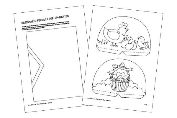Pop-Up-Karten für Ostern basteln