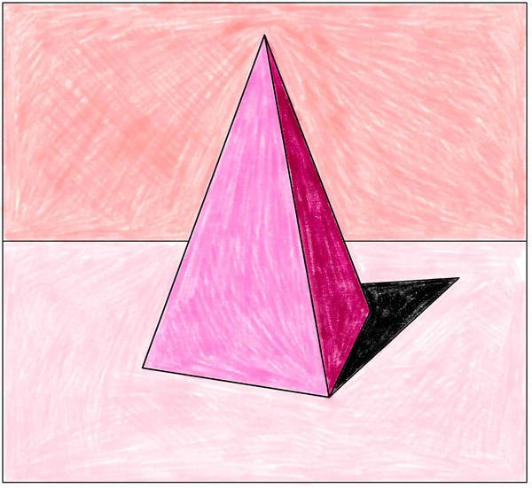 Räliche Darstellung mit Farbe