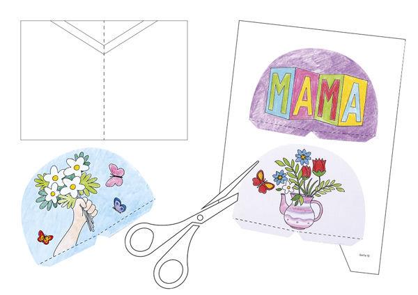 Pop-Up-Karten zum Muttertag basteln