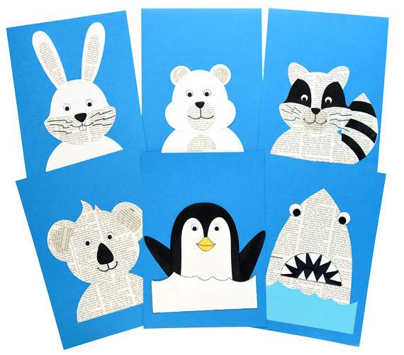 Witzige Wackelaugen-Tiere aus Zeitungspapier - Bastelideen für Kinder