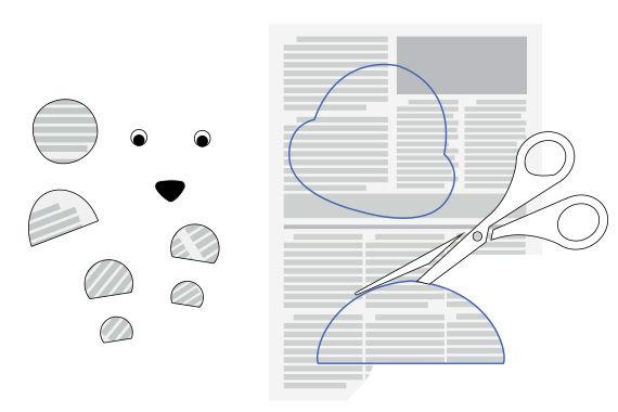 Anleitung für witzige Wackelaugen-Tiere aus Zeitungspapier