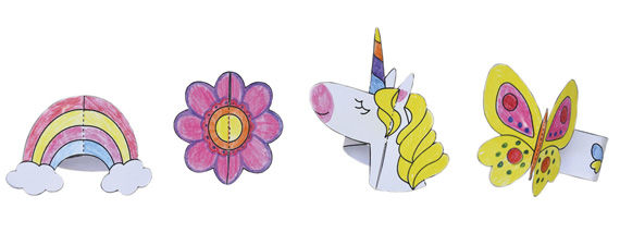 Armbänder aus Papier basteln für Kinder