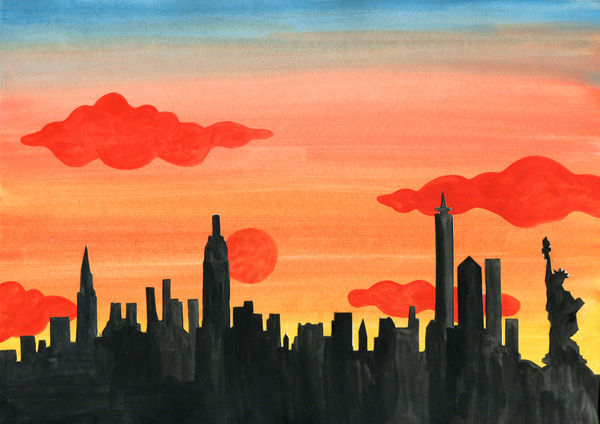 Skyline-Silhouette - New York