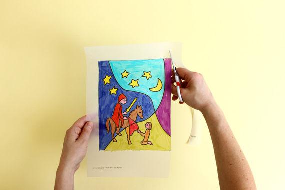 Anleitung: Pop-Art St. Martin Laterne basteln mit Kindern