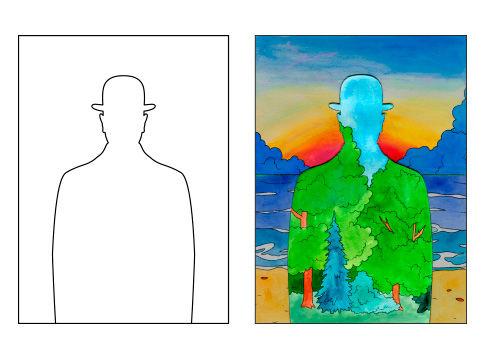 Surrealismus - Rene Magritte - Mann mit Hut