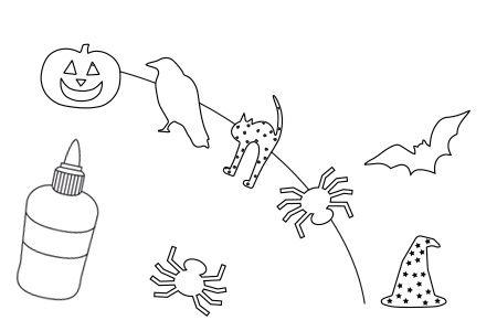 Halloween-Papierketten basteln mit Kindern