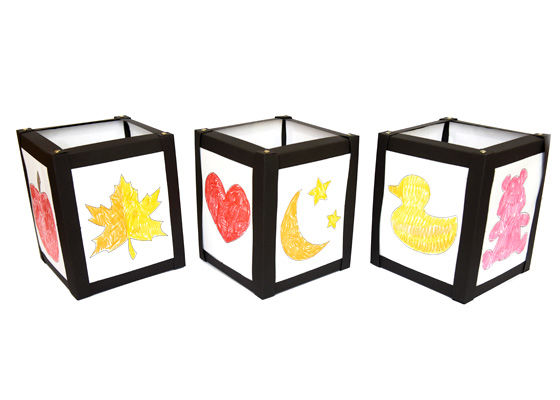 Anleitung: Karton-Laterne mit Malvorlagen gestalten