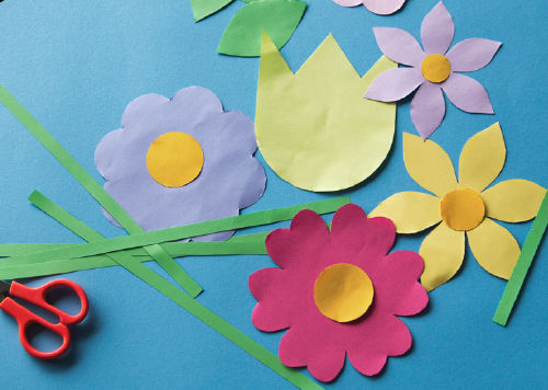 Anleitung - Blumen-Fensterbild
