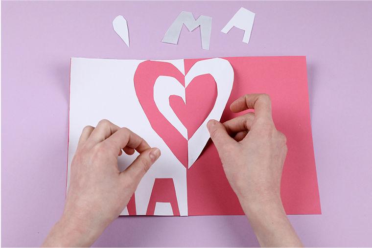 Klappschnittkarten zum Muttertag basteln