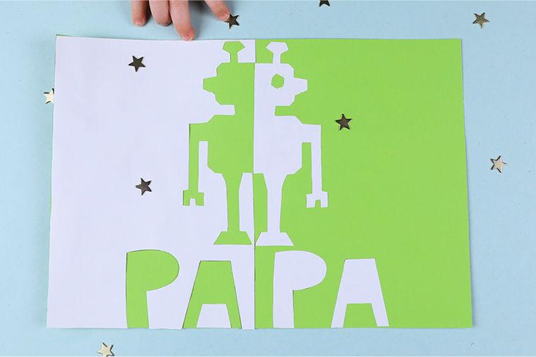 Klappschnittkarten zum Vatertag basteln