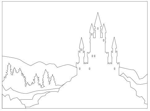 Schlösser und Burgruinen malen mit der Farbperspektive - Anleitung