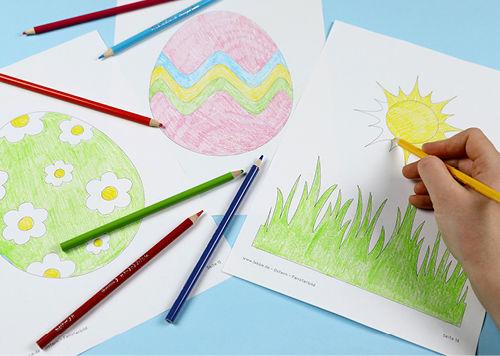 Anleitung Ostern-Fensterbild