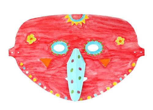 Bunte Masken im Stil der Calaveras