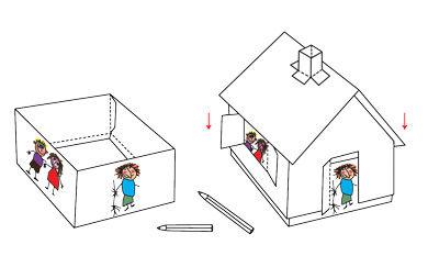 Anleitung - Hexenhaus basteln mit Kindern