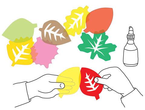 Anleitung Herbstlaub aus Transparentpapier ausschneiden