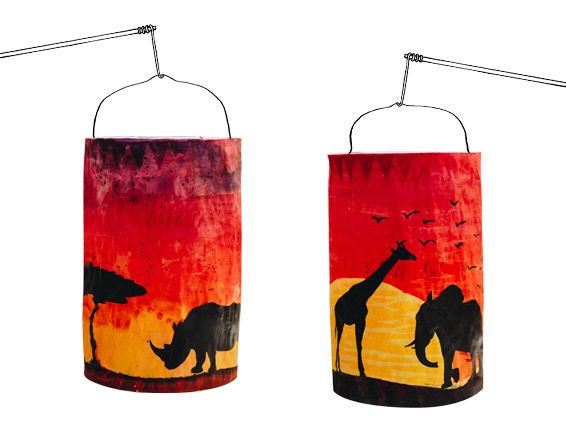 Safari-Laterne basteln für St. Martin