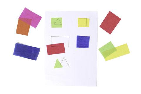 Bauklötzchen-Laterne basteln mit Transparentpapier