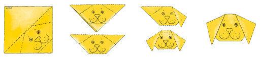 Tiere Falten - Origami Hund