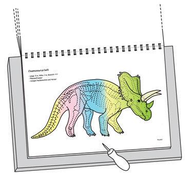 Anleitung zum Dino-Prickbuch