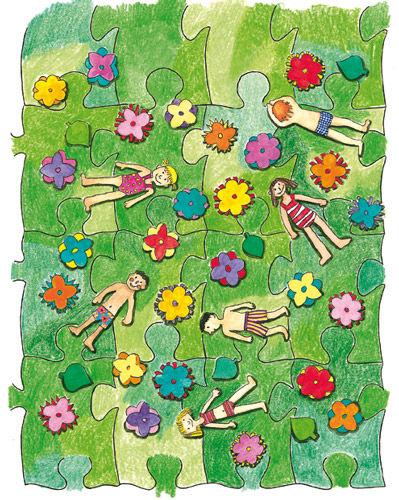 wie wird ein puzzle hergestellt