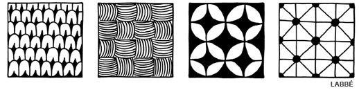 Doodles Kritzel Muster - Beispiele