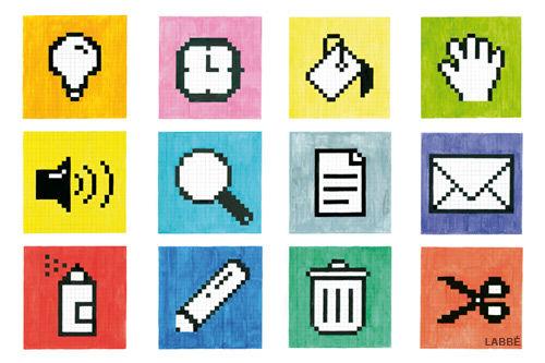 Pixel Bilder Druckvorlagen