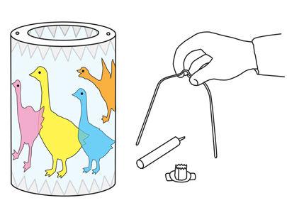 Anleitung zum Basteln der Pergament-Laterne