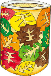 Herbstlaub Laterne Labbé