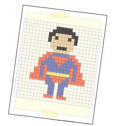 Anleitung - Pixel-People Karton-Laterne