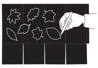 Anleitung zum Basteln der Faltlaterne, schwarz