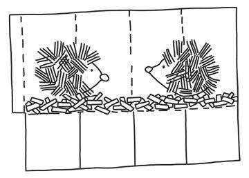 Anleitung Igel-Laterne mit Gabeldruck fuer St Martin