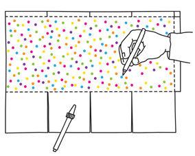 Anleitung zum Basteln der Pergament-Faltlaterne