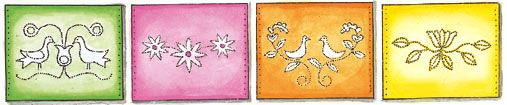 Sommerleuchten - Blumen und Vogel Motive
