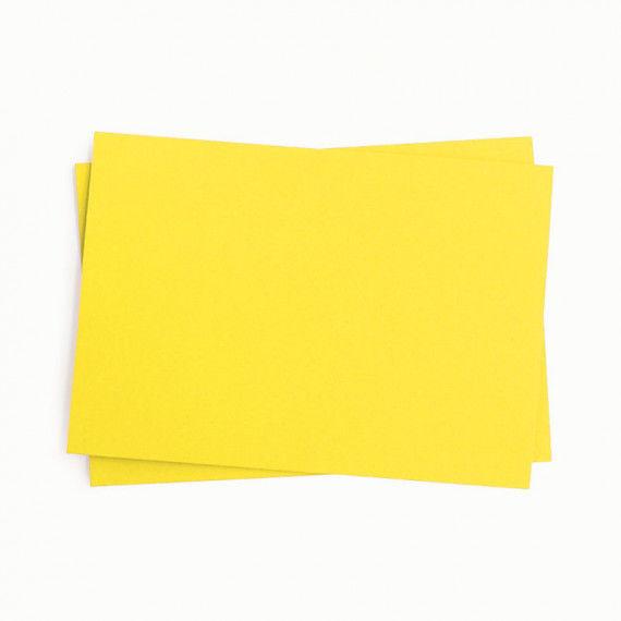 Tonpapier, einzeln, hellgelb