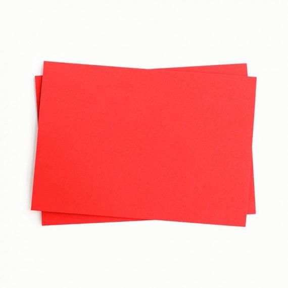 Tonpapier einzeln, rot