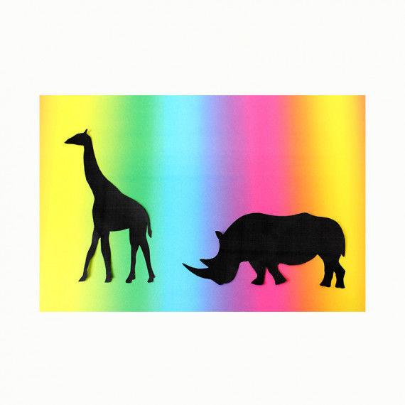 Regenbogen-Fotokarton