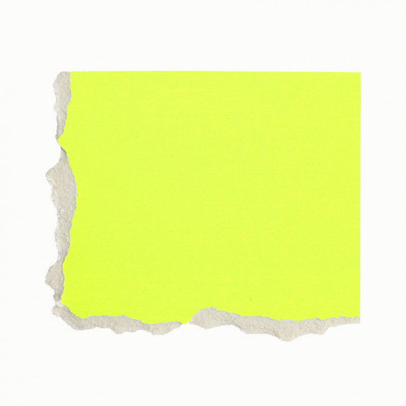 Plakatkarton, einzeln, gelb