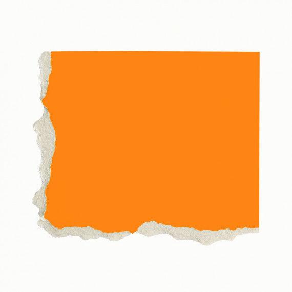 Plakatkarton, einzeln, orange