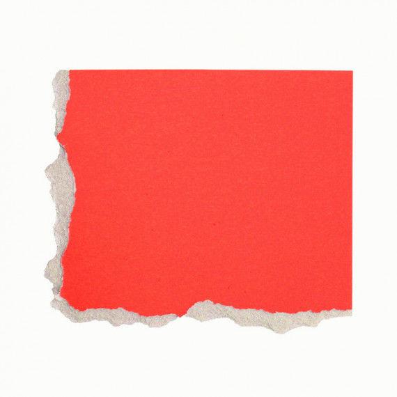 Plakatkarton, einzeln, rot