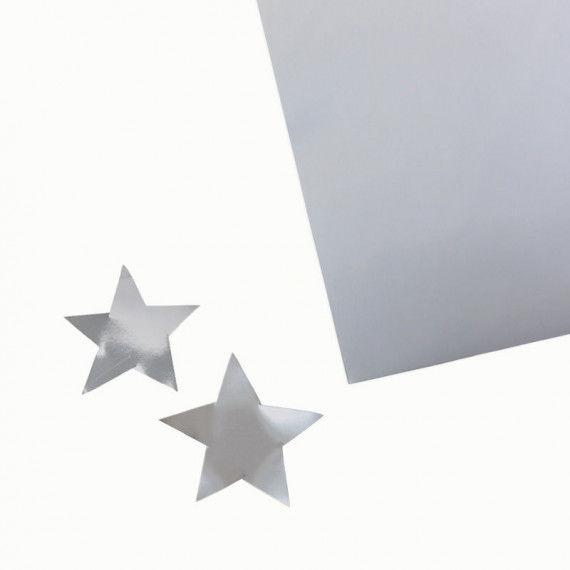 Silber Karton zum Basteln, 300 g/qm