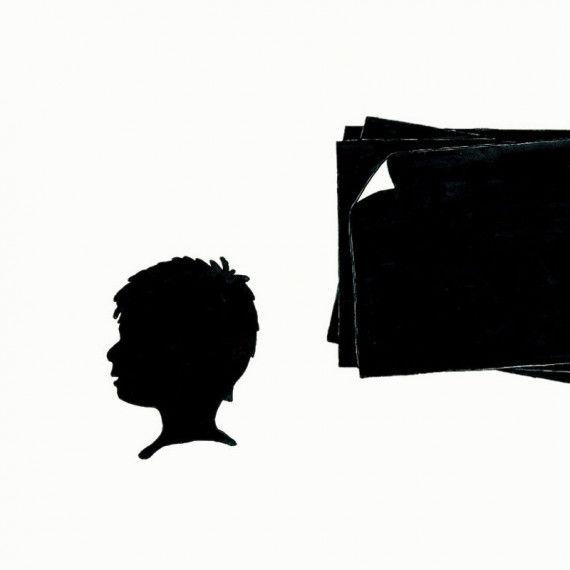 Schwarzes Scherenschnittpapier, 20 Blatt