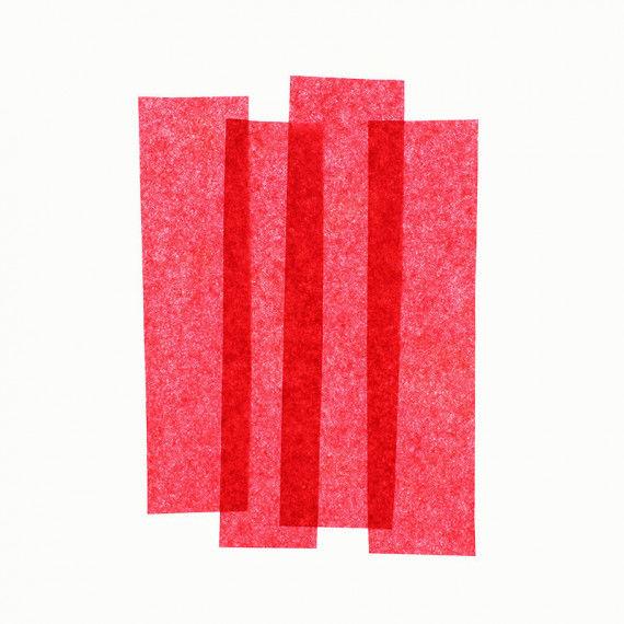 Seidenpapier, 50 x 70 cm, 26 Bogen, rot