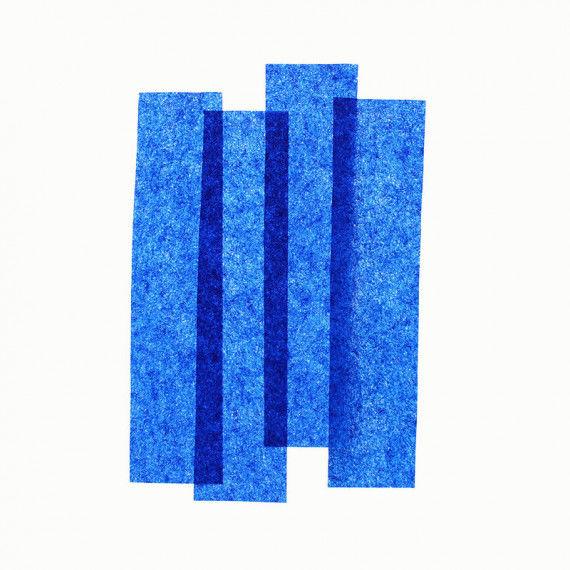 Seidenpapier, 50 x 70 cm, 26 Bogen, blau