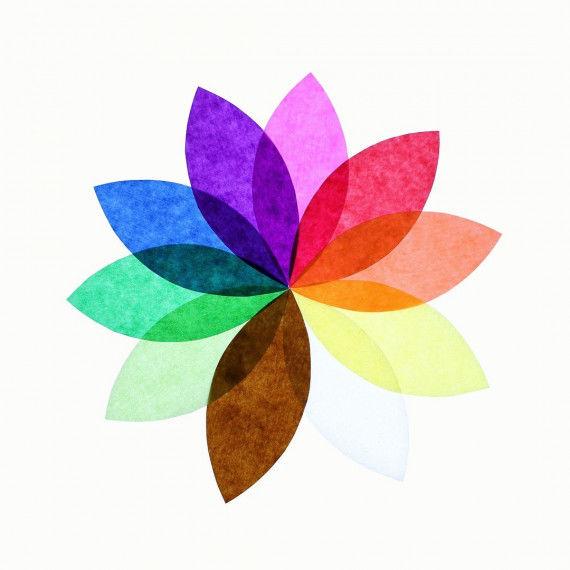Transparentpapierheft mit 10 Blatt in 10 Farben