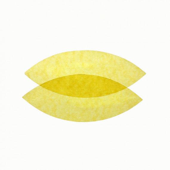 Transparentpapier, 25er Pack - gelb