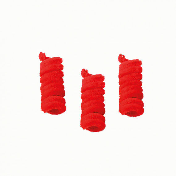 Pfeifenputzer, 10er Pack, rot